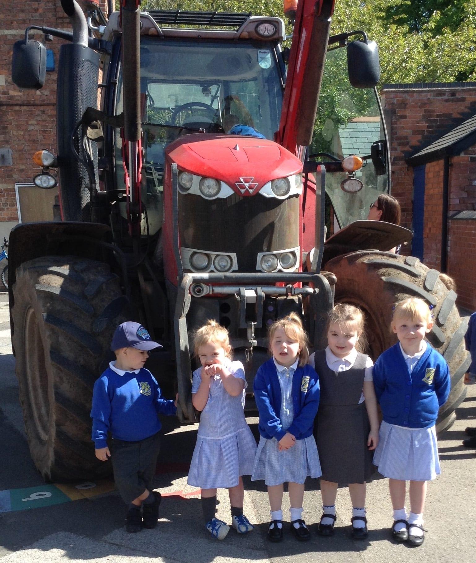Tractor fun for Nursery