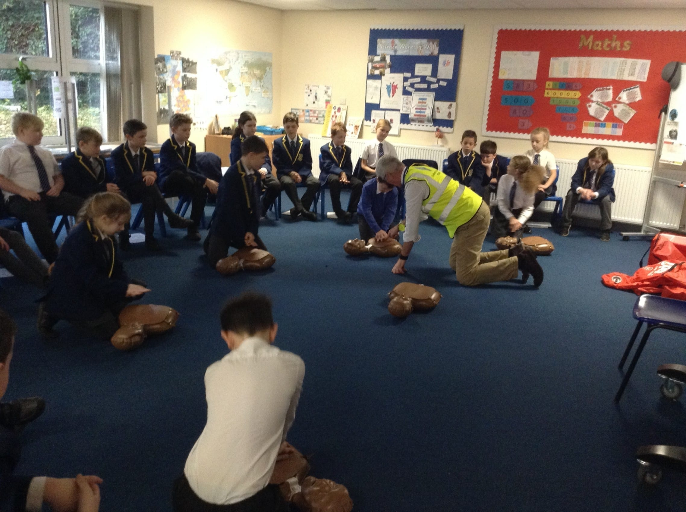 CPR training for our year 5 children